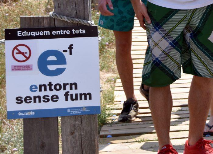A Sant Feliu de Guíxols, platges amb delimitació per a no-fumadors