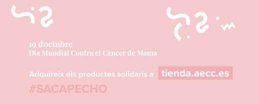 """Aquest dissabte de 9 a 14h a la Cruïlla de la Rambla amb carrer Major de Sant Feliu de Guíxols, L'AECC-Catalunya contra el Càncer, anima a """"treure pit"""" contra el càncer de mama"""