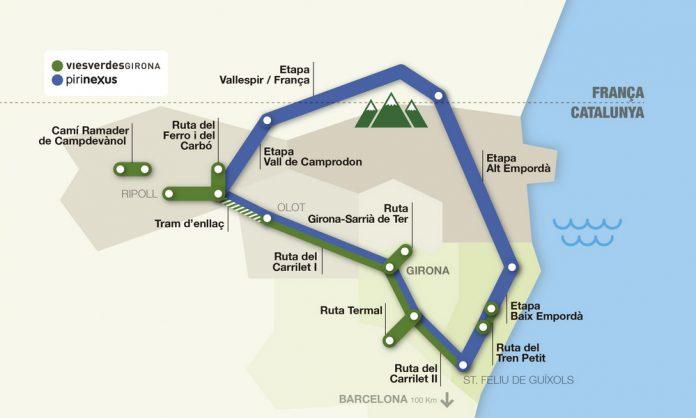 El Consorci Vies Verdes engega la campanya Pirinexus, una ruta on Sant Feliu n'és protagonista