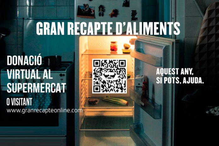 El Gran Recapte d'Aliments 2020 serà virtual