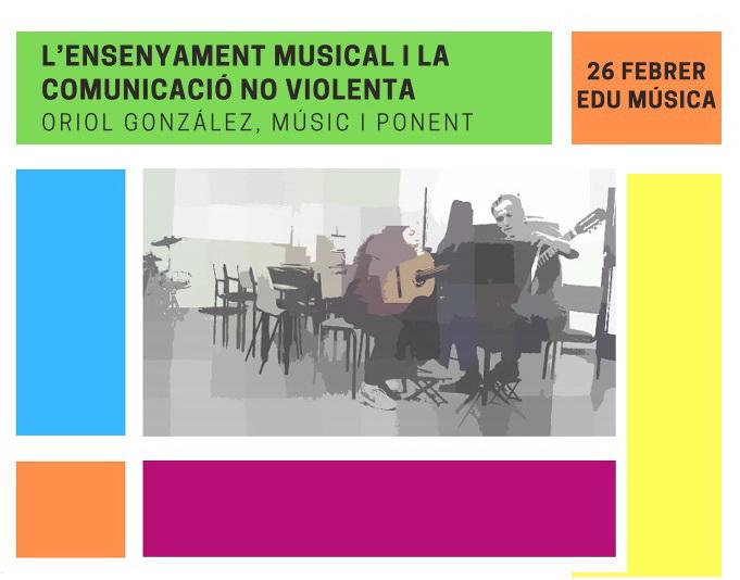 Nova proposta dins el cicle 'Música i Descobertes!' de l'Escola de Música amb Oriol González