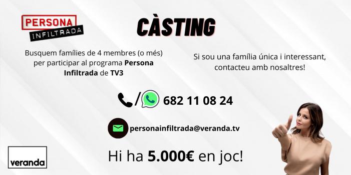 El programa 'Persona infiltrada' de TV3 busca famílies de Sant Feliu que hi vulguin participar