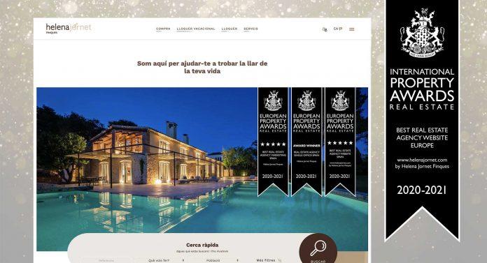 Helena Jornet Finques obté el guardó de millor web immobiliària de tota Europa
