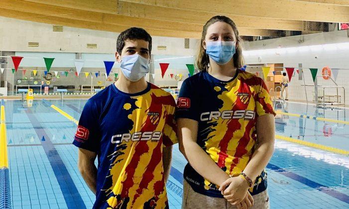 Afra Pujol i Daniel Campos al XXVII Campionat d'Espanya de Natació