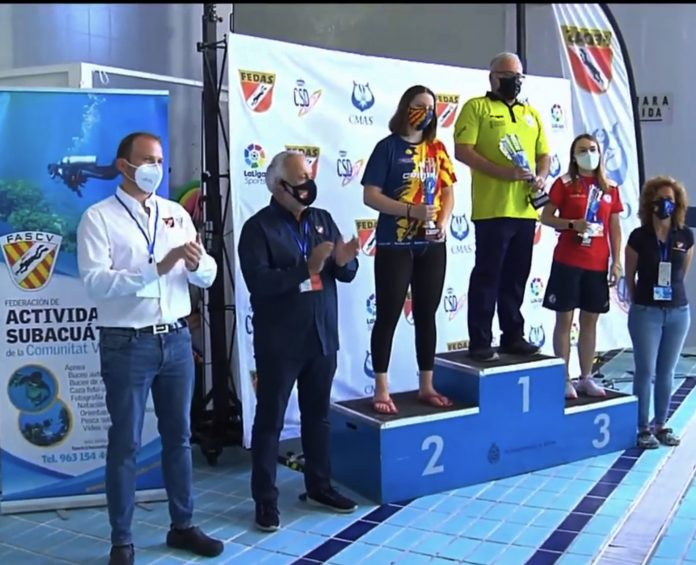 La Selecció Catalana de natació amb aletes, amb la participació de l'Aquàtic Club Xaloc, obté la medalla de plata al Campionat d'Espanya
