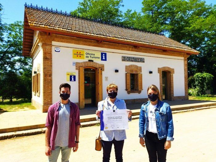 L'oficina de turisme de Santa Cristina d'Aro rep el distintiu sicted pel seu compromís amb la qualitat turística