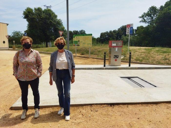 Santa Cristina d'Aro culmina les obres de la nova àrea d'autocaravanes