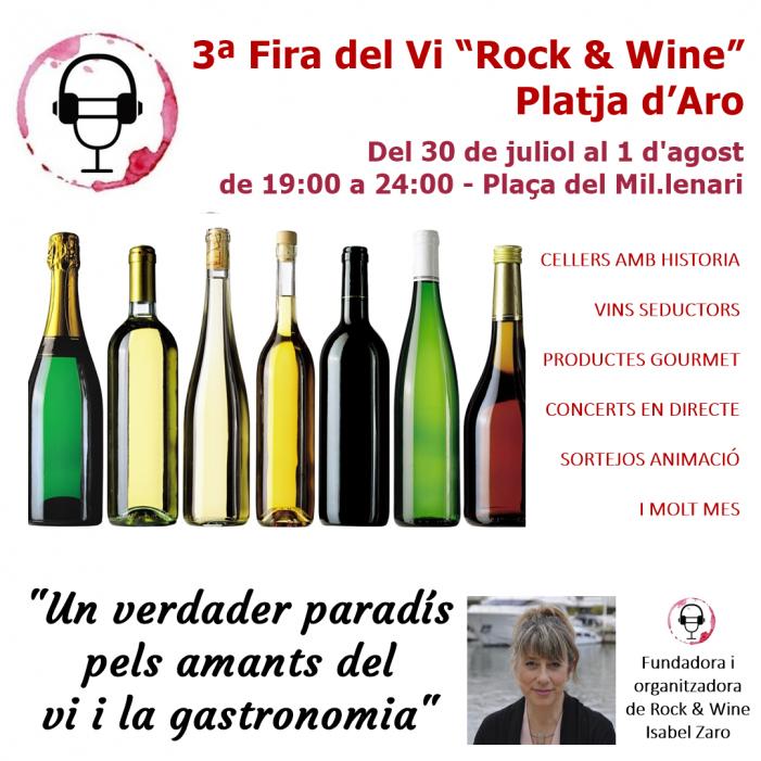"""3ª Fira del Vi """"Rock & Wine"""" a Platja d'Aro"""