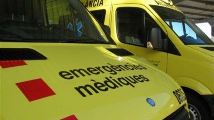 El conductor d'un patinet elèctric resulta ferit en un xoc amb un cotxe a Sant Feliu