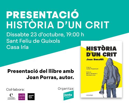 """Presentació """"Història d'un crit"""" de JoanBonaNit"""